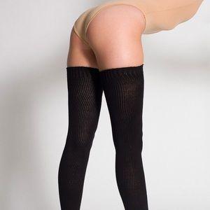 American Apparel Black Thigh High Socks